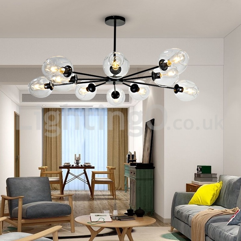Nordic Postmodern Molecular Chandeliers Magic Bean Chandelier Living Room  Dining Room Bedroom Study Cafe Bar