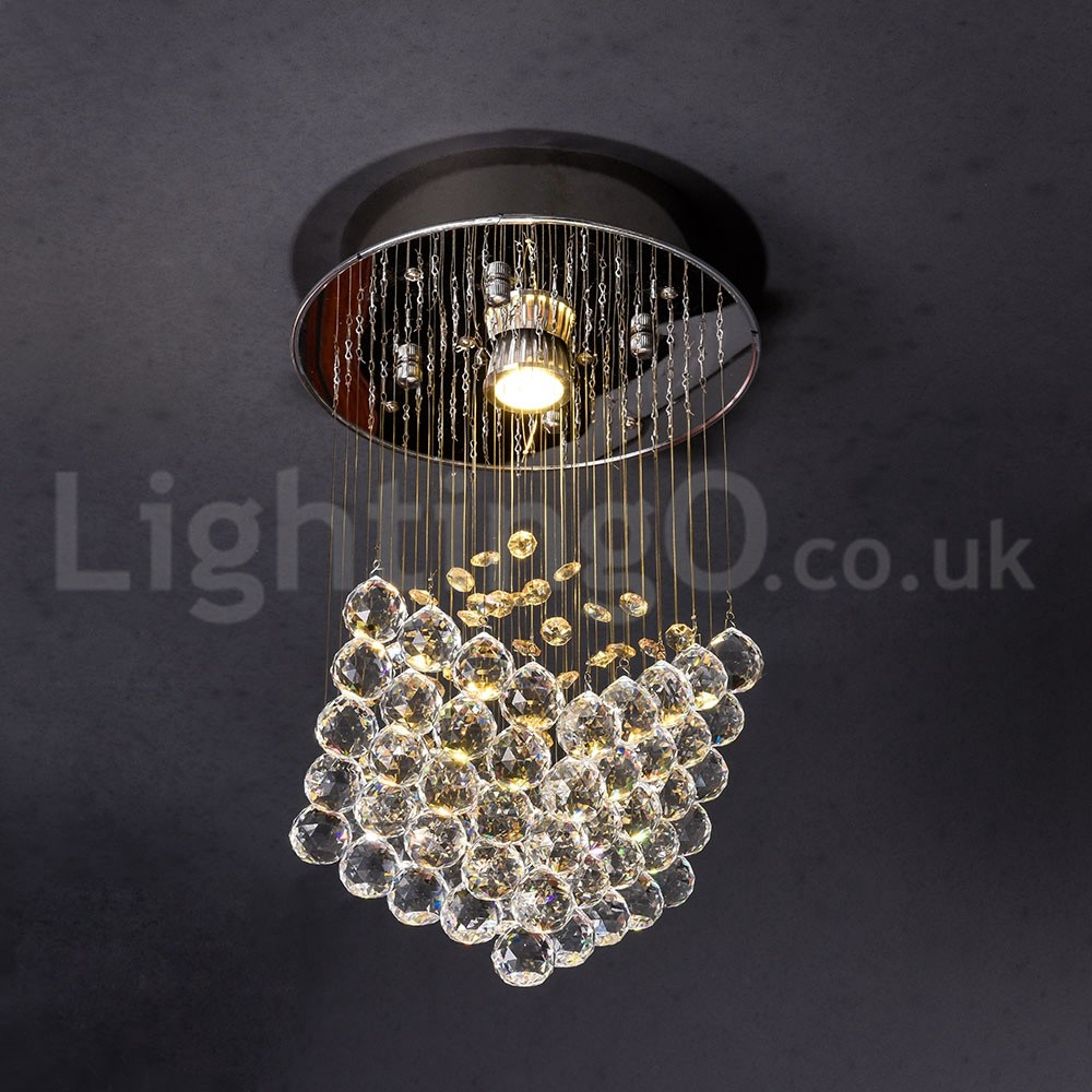 Photos 1 light modern led k9 crystal ceiling pendant light indoor