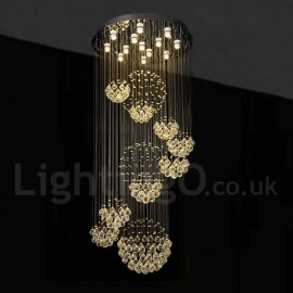 LED Crystal Long Drop Ceiling Pendant Lights Modern Chandeliers Home  Hanging LED Lighting Chandelier Lamps Fixtures