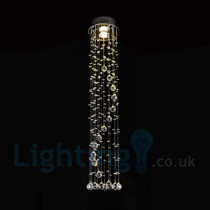 1 Light Cheap Modern K9 Crystal Round Flush Mount Ceiling