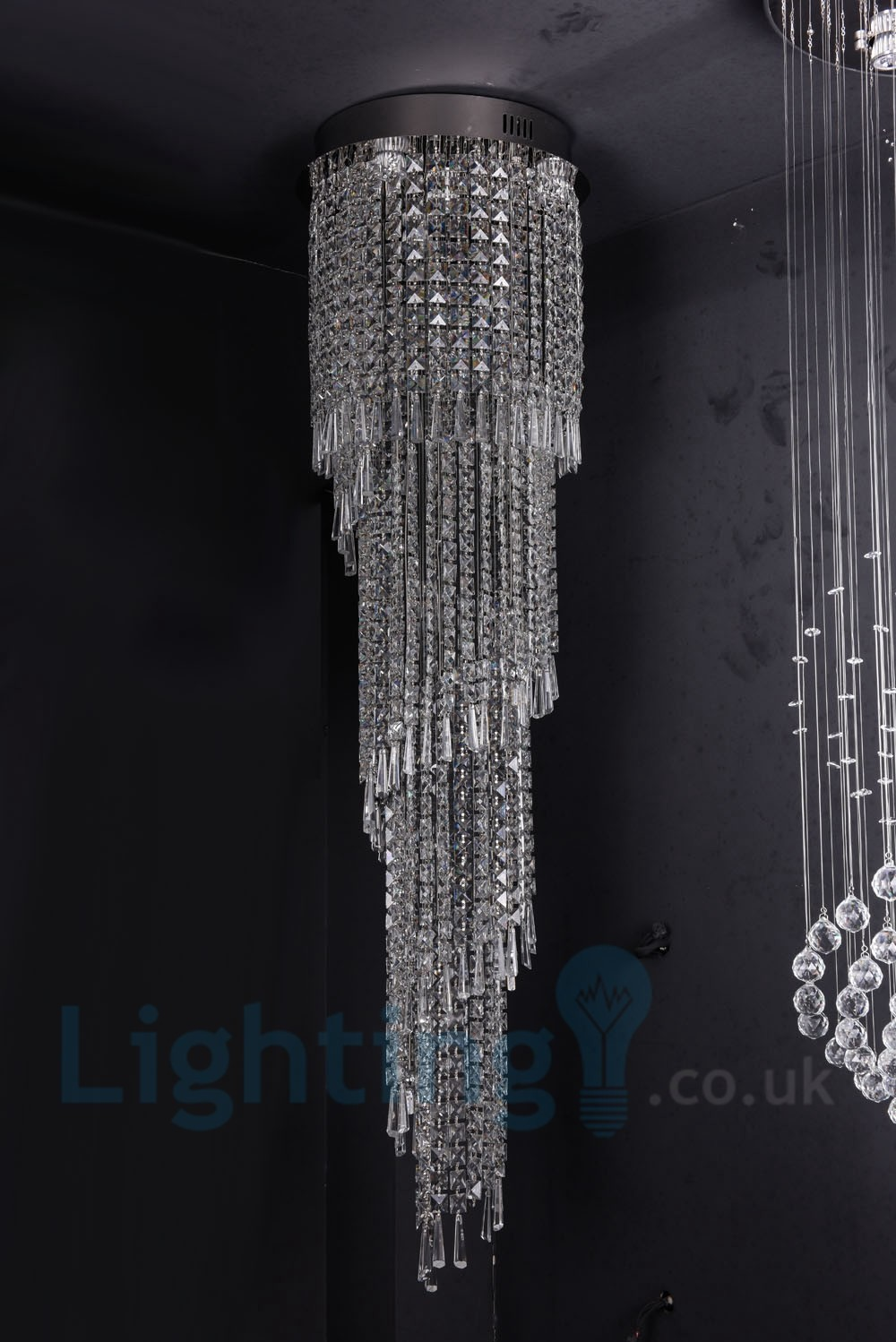 4 X Gu10 8 X G4 150cm Long Crystal Drop Light Modern K9