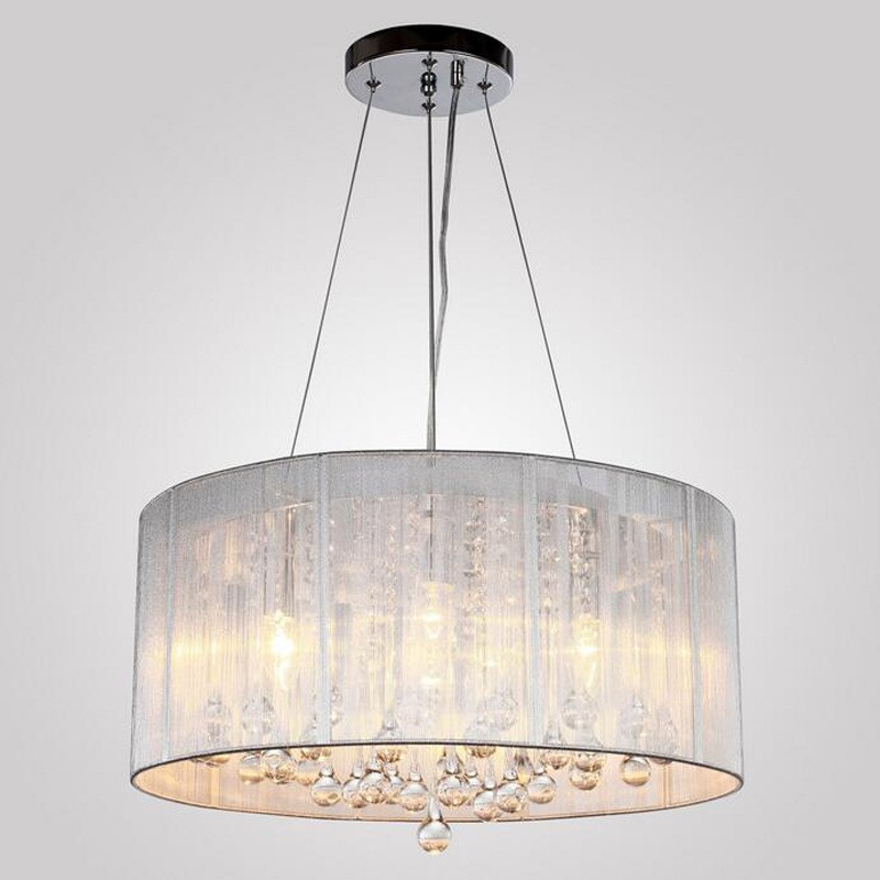 Dining Room Chandeliers Traditional Crystals: MAX:60W Traditional/Classic Crystal Chrome Metal
