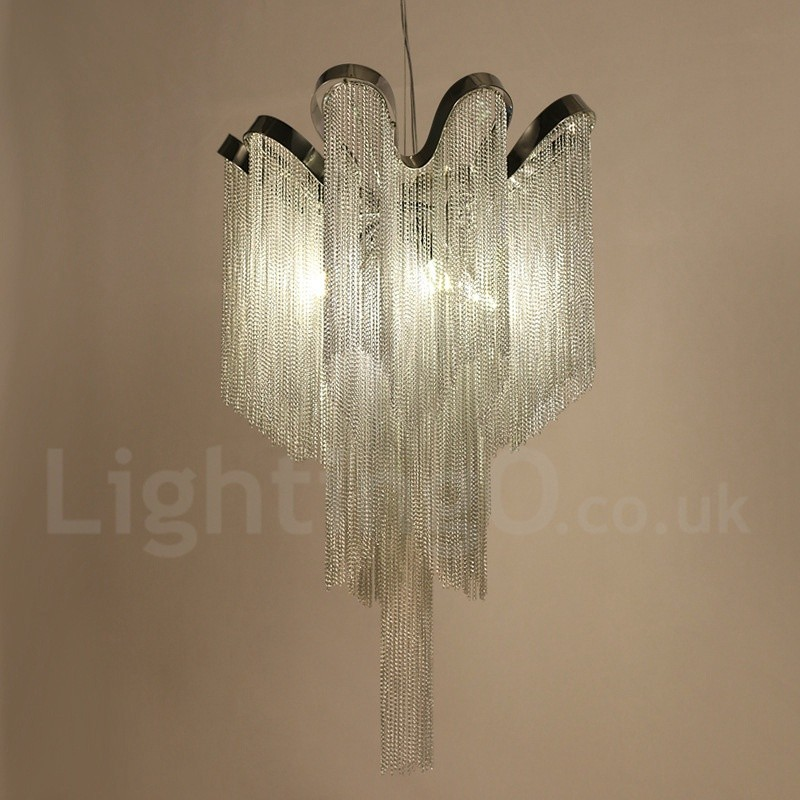 Tassels Linear Crystal Chandeliers Lights