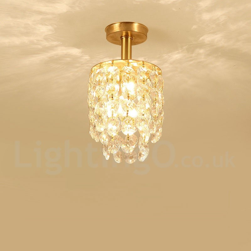 Pure Brass Led Rustic Lodge Nordic Style Flush Mount