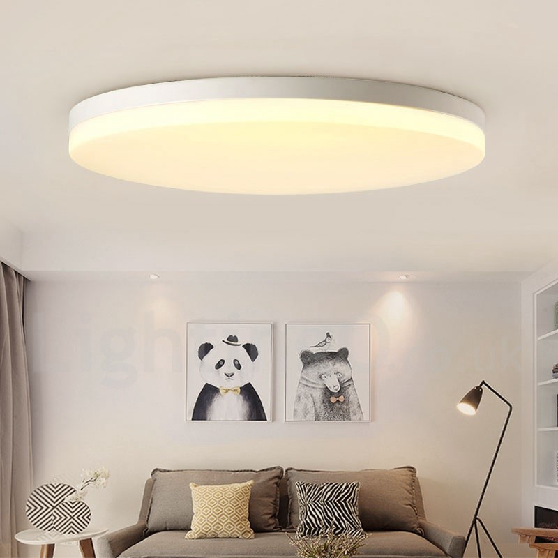 Ultra Thin Round Dimmable Led Modern Contemporary Nordic