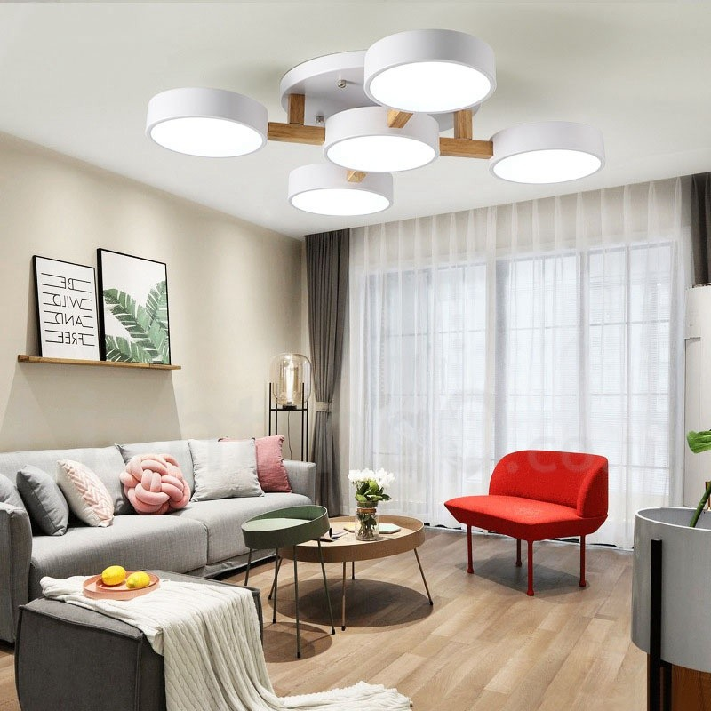 Wood Chandelier LED Modern / Contemporary Nordic Style ...