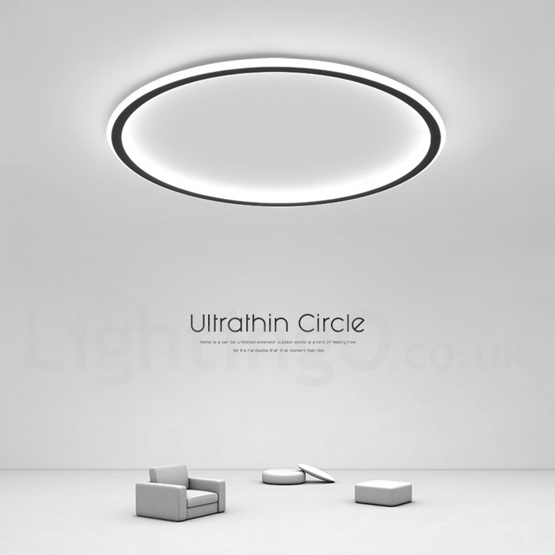 Ultra Thin Dimmable Led Modern Contemporary Nordic Style Flush Mount Ceiling Lights With Remote Control Also Can Be Used As Wall Light Lightingo Co Uk
