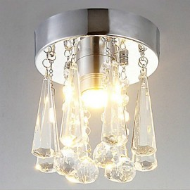 1-Light LED Semi Flush Mount in Crystal