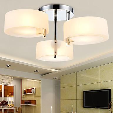 Flush mount modern contemporary 3 lights ceiling light for Ceiling light kids room