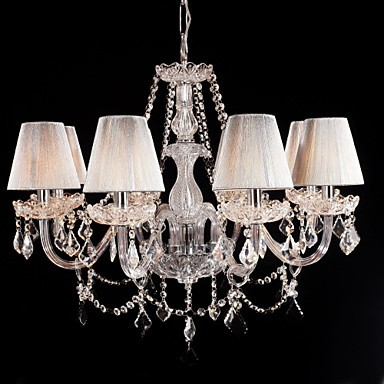 Chandelier Crystal Luxury Modern Living 8 Lights With