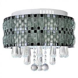 Graceful LED Crystal Flush Mount 90-240V