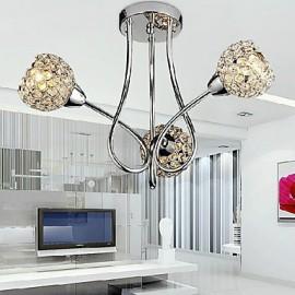 Modern Shining 3 Light Flush Mount In Crystal Design (220V-240V)