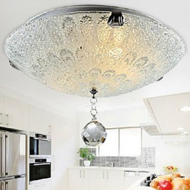 10W Modern/Contemporary Crystal / LED Nickel Flush MountLiving Room / Bedroom / Dining Room / Kitchen / Bathroom / Kids Room / Entry /