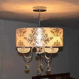 Max 60W Modern/Contemporary Crystal Electroplated Chandeliers Living Room / Bedroom / Dining Room