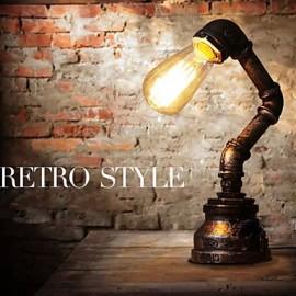 Table Lamps Industrial Loft Retro Novelty Desk Lamp/Study/NightBar/Metal Painting