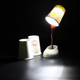 DIY Pouring Coffee Design White Light LED Table Lamp (USB/3xAAA)