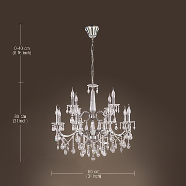 Chandelier Crystal Modern 2 Tiers Living 12 Lights