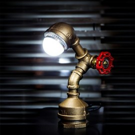 Vintage Industrial Lamp Loft Retro Style Iron Pipe Desk Table Lamp Light Birthday Gifts