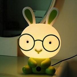 Table Lamps Cartoon Rabbit Green Plastic Acrylic