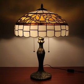 Table Lights with 2 Lights with Glass LampShade - Electroplate Finish