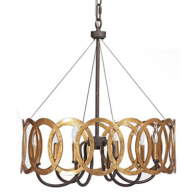 MAX:60W Traditional/Classic Gold Metal Chandeliers Bedroom / Dining Room / Study Room/Office / Hallway