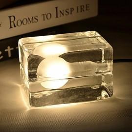 G9*1 12*8*7CM 3-5㎡220V Button Switch Ice Creative Personality Desk Lamp Glass Decorative Fashion Lamp LED Light