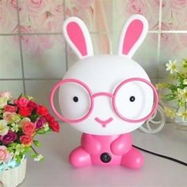 MT001 Night Light Cartoon Rabbit Pink Plastic Resin
