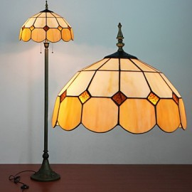 Mongolian Yurt Decoration Floor Lamp, 2 Light, Resin Glass Painting Process