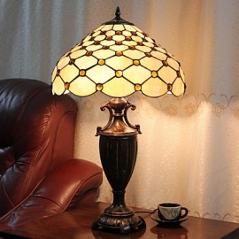 Beads Decoration Table Lamp, 2 Light, Resin Glass Painting