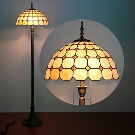 Mushroom Design Floor Lamp, 2 Light, Resin Glass Painting Process