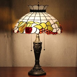 Crown Design Table Lamp, 2 Light, Resin Glass Painting