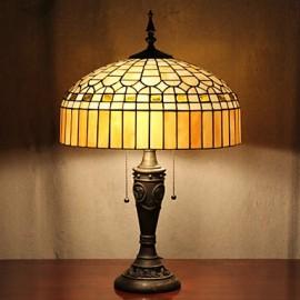 Ger Design Table Lamp, 2 Light, Resin Glass Painting