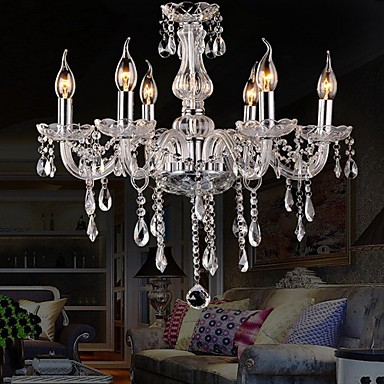 3W Traditional/Classic / Vintage Crystal / Bulb Included Electroplated Crystal ChandeliersLiving Room / Bedroom / Dining Room / Kitchen /