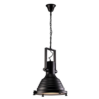 Black Retro Bar Iron Pendant Lamp and Glass Shade For Coffee Shop