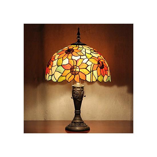 Table Lamp 2 Light Resin Glass Painting Lightingo