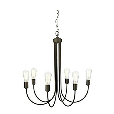MAX:60W Country Bulb Included Painting Metal Chandeliers Living Room / Bedroom / Dining Room / Study Room/Office / Entry / Hallway
