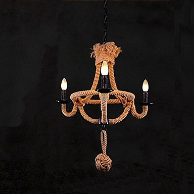 40W Traditional/Classic / Rustic/Lodge / Vintage / Retro / Country Painting Metal ChandeliersLiving Room / Bedroom / Dining Room / Study