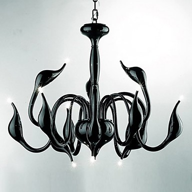 Max 10W Modern/Contemporary Candle Style Electroplated Metal Chandeliers Living Room / Bedroom / Dining Room