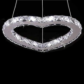 1W Modern/Contemporary Crystal / LED Chrome Metal Chandeliers Living Room