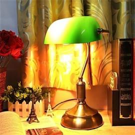 American Vintage Bank Boutique Glass Lamp
