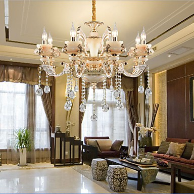 Simple European luxury Type Gold Jade Zinc Alloy Dining Room lamp