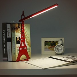 34.6*14.5*36.8CM Creative Fashion Energy-Saving Personality Paris Eiffel Tower Model Desk Lamp Light Led