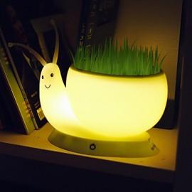 18.5*8.8*9.5CM Snail Light Creative Small Night Light Usb Rechargeable Office Green Plant Led Desk Lamp Light Led