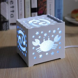 14.5*14.5*14.5CM Christmas Originality Of The Zodiac Hollow-Out Concise Adornment Night Light Lamp Light Led