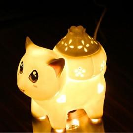 Valentine'S Day Ceramic Incense Small Night Light Sweet Lamp Aing Kind Of Sweet Gift Desk Lamp Led Light