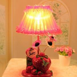 Valentine'S Day Trawberry Decoration Flower Arranging Household Handicraft Furnishing Articles Desk Lamp Led Light